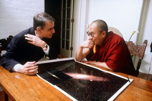 Carl Sagan &amp; the Dalai Lama, 1991.