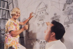 Mary working on It's a Small World