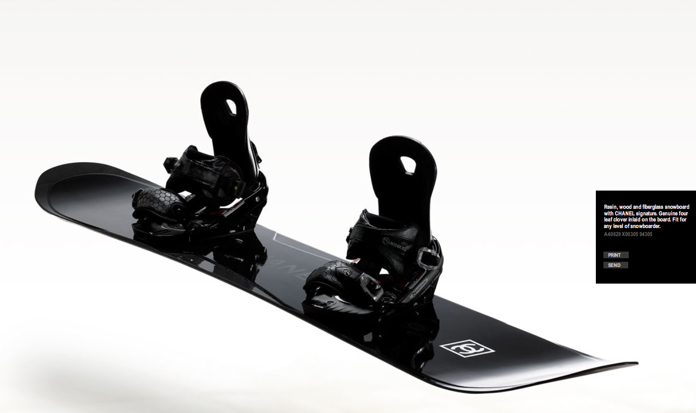 black chanel snowboard
